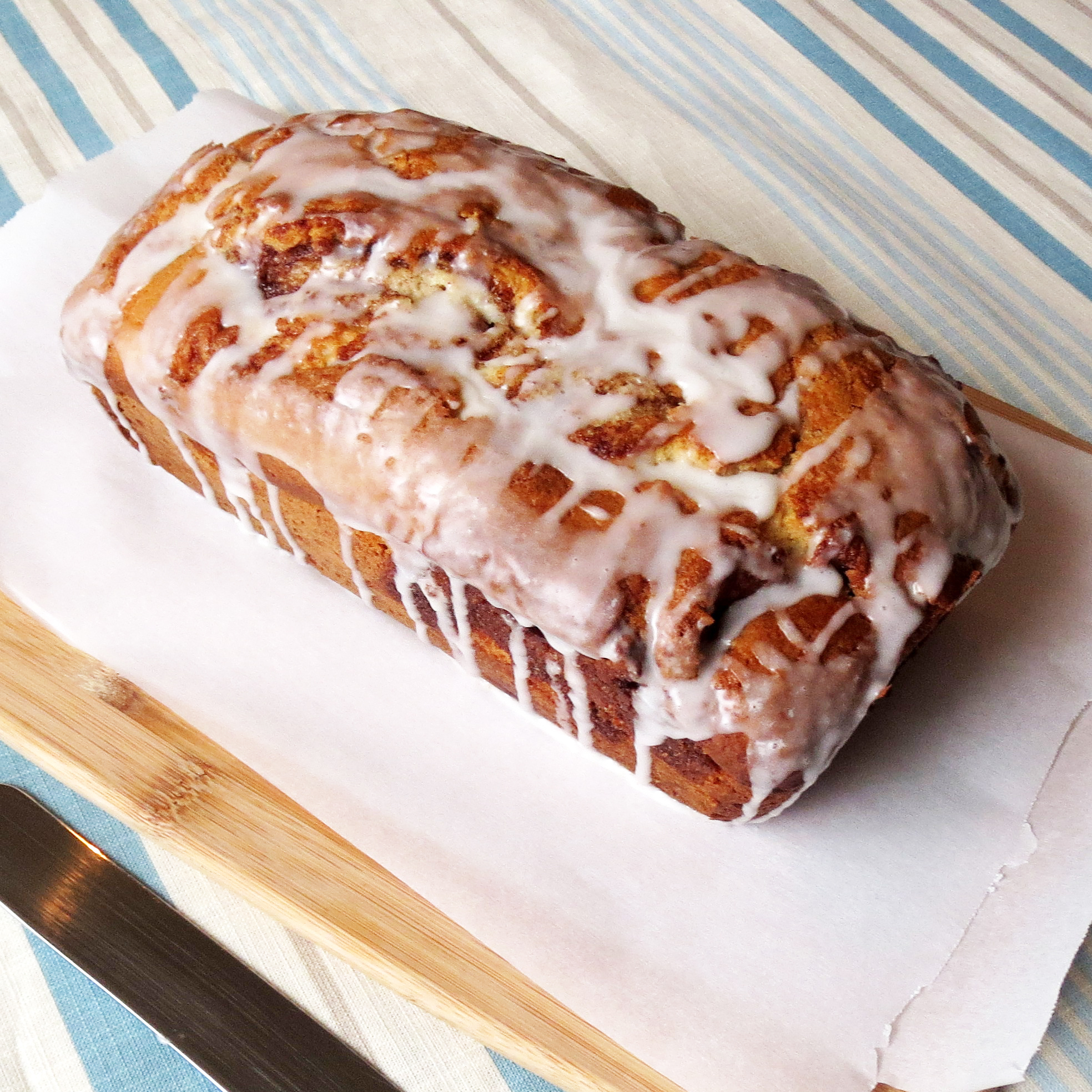 Cinnamon Roll Quick Bread | Rumbly in my Tumbly