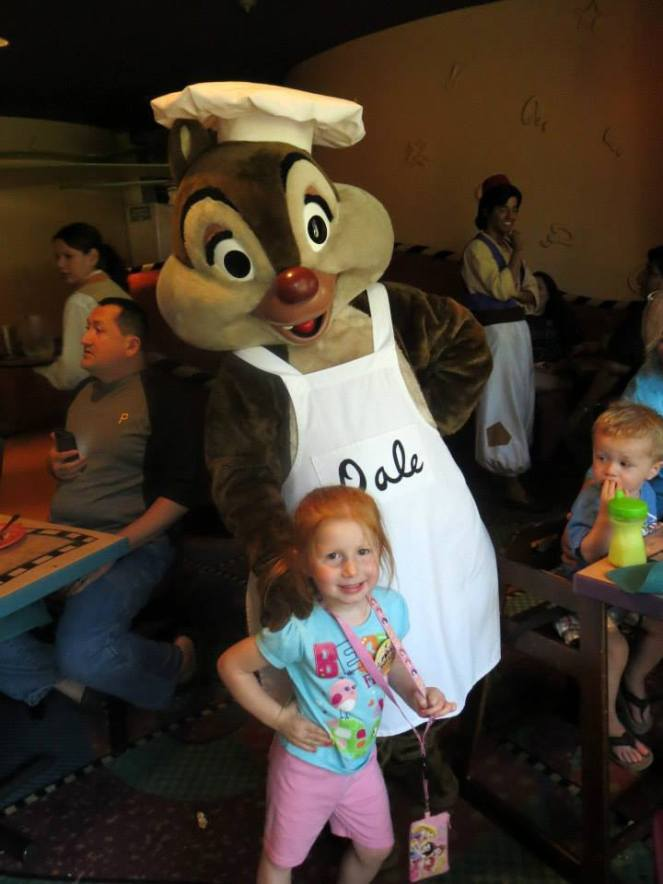 My daughter, Daphne, at Goofy's Kitchen