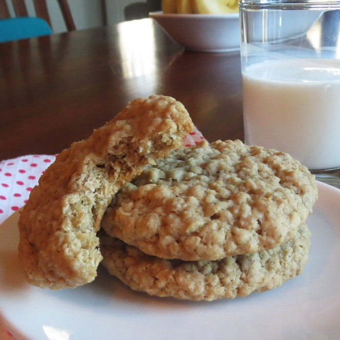 Chewy Oatmeal Cookies - Rumbly in my Tumbly