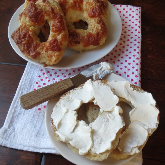 Homemade Cheddar Garlic Bagels by Rumbly in my Tumbly