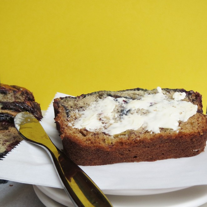Blueberry Swirl Banana Bread by Rumbly in my Tumbly