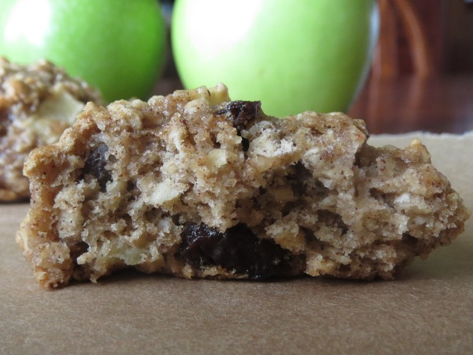 Packed with cinnamon, raisins, and apples.  Yum.