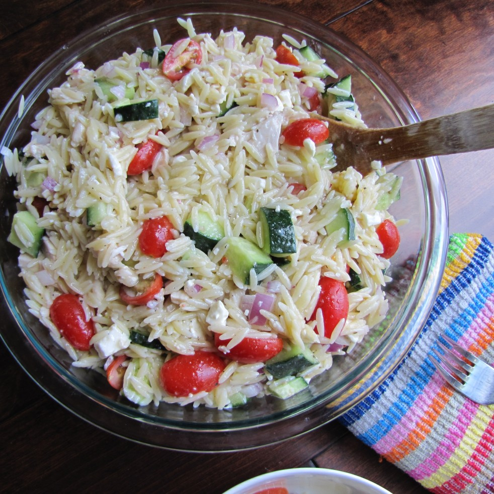 Greek Orzo Pasta Salad by Rumbly in my Tumbly