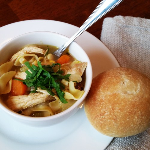 Weeknight Chicken Noodle Soup (still as good as Grandma's) by Rumbly in my Tumbly