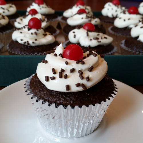 Black Forest Cupcakes by Rumbly in my Tumbly