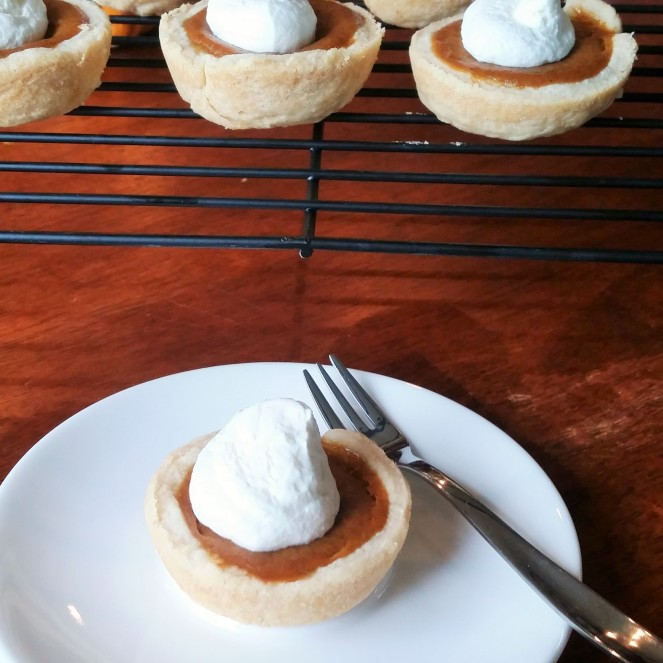Pumpkin Pies in a Muffin Tin by Rumbly in my Tumbly