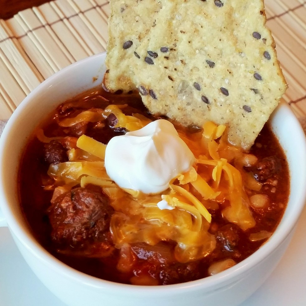 Black Bean and Steak Chili by Rumbly in my Tumbly