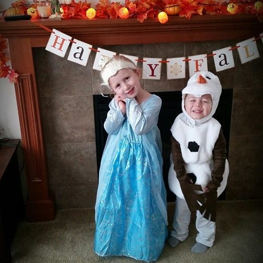 My little Elsa and Olaf