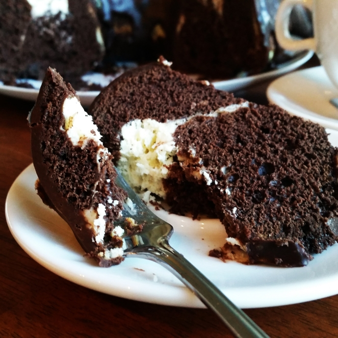 Chocolate Cream Cheese Marbled Bundt Cake