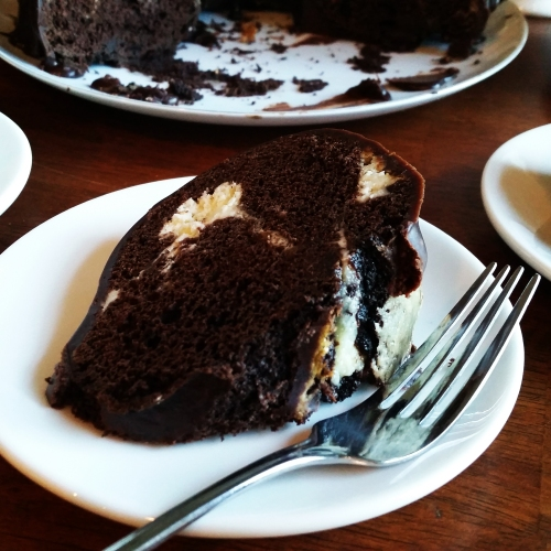 Chocolate Cream Cheese Marbled Bundt Cake