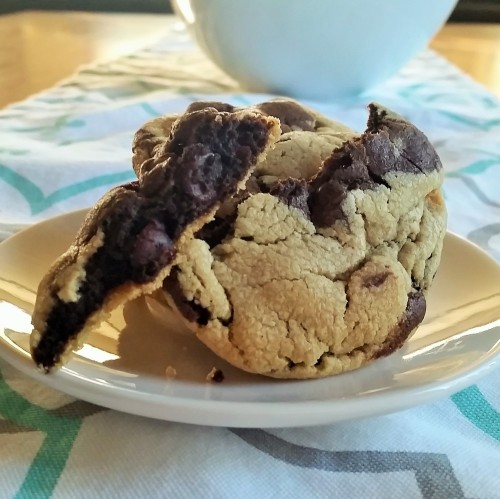 Marbled Double Chocolate Peanut Butter Cookies by Rumbly in my Tumbly.