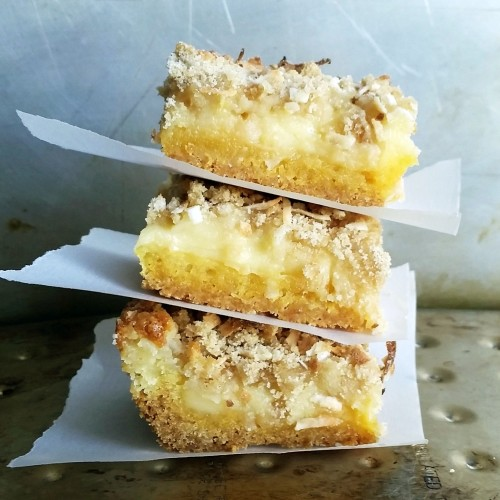 Lemon Coconut Gooey Butter Bars by Rumbly in my Tumbly
