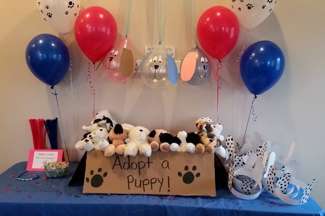 Adopt a Puppy party favors
