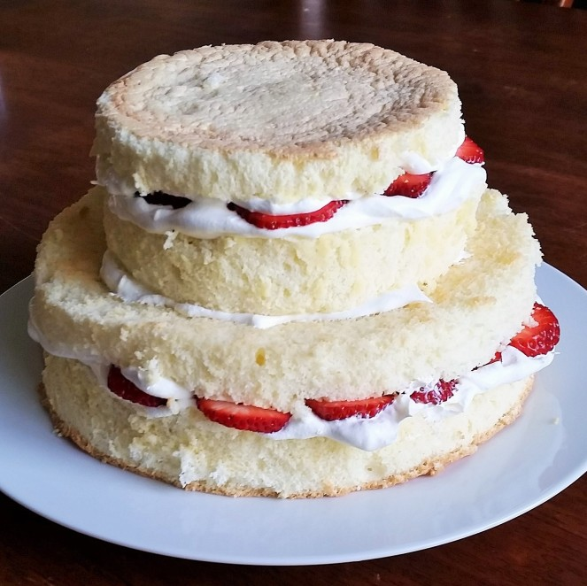 """Very Fancy"" Strawberries and Whipped Cream Sponge Cake by Rumbly in my Tumbly"
