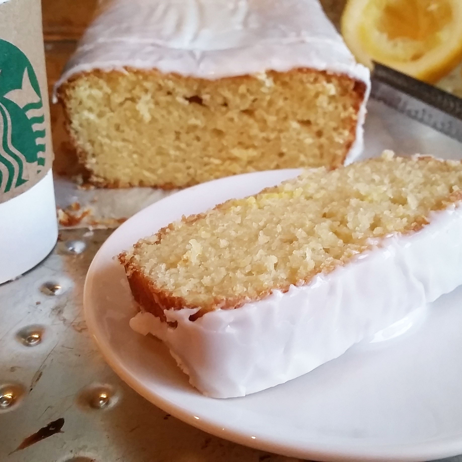 Starbucks Iced Lemon Pound Cake Rumbly in my Tumbly