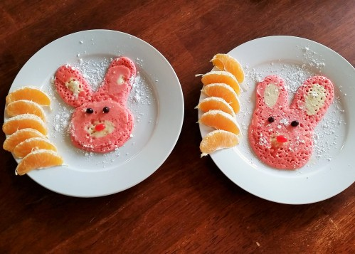 Freehand bunnies. Some turned out more bunny like than others, but the kids didn't care!