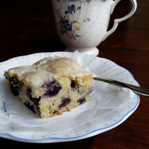 Blueberry Zucchini Breakfast Cake by Rumbly in my Tumbly