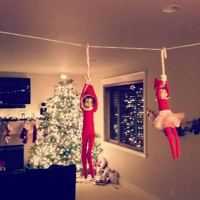 Elf Candy Cane Zipline