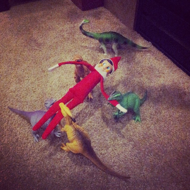 Being eaten by dinosaurs
