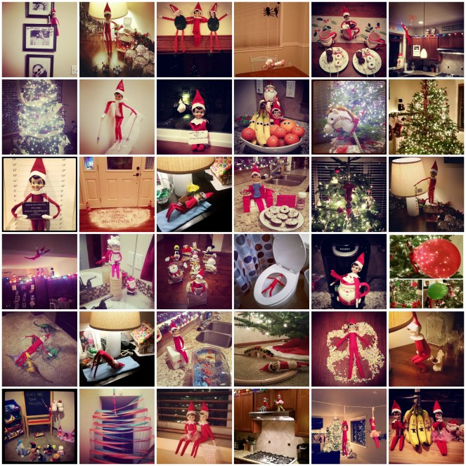 Easy and Fun Elf on the Shelf Ideas - Under ten minutes.