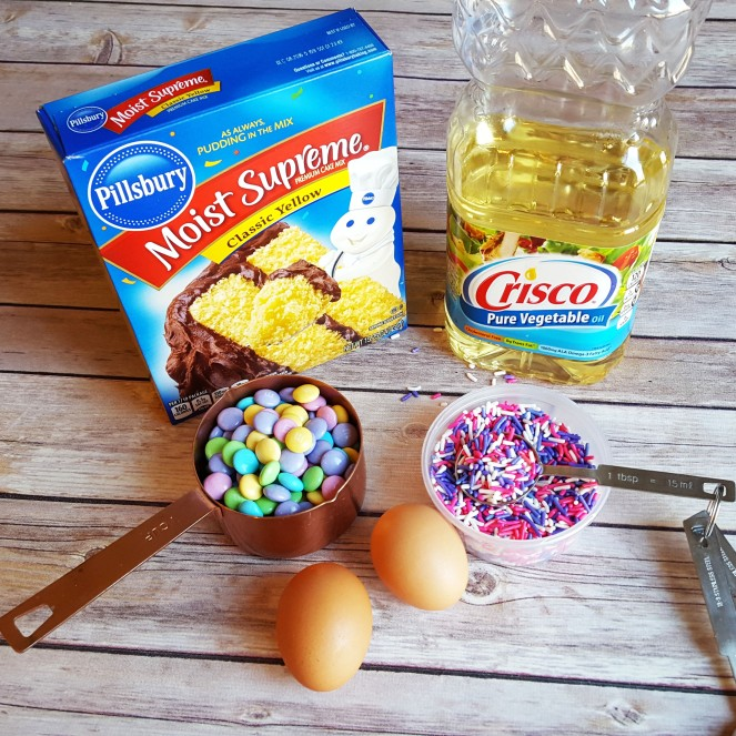 5 ingredient Easter Funfetti Cake Mix Cookies by Rumbly in my Tumbly
