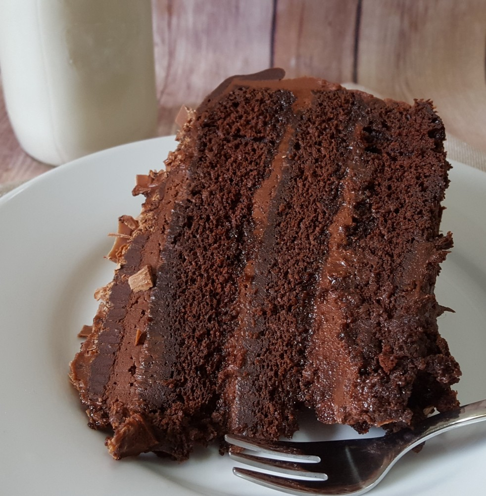 Moist Chocolate Cake by Rumbly in my Tumbly
