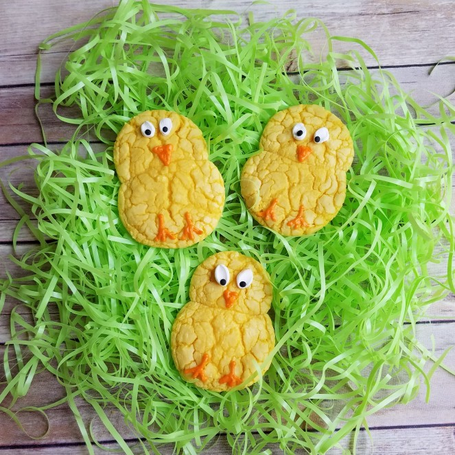 Easter Chick Cake Mix Cookies by Rumbly in my Tumbly