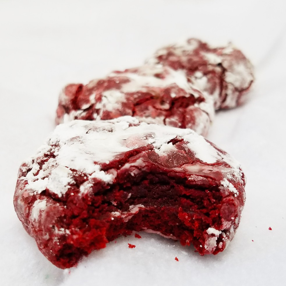 Red Velvet Crinkle Cookies by Rumbly in my Tumbly