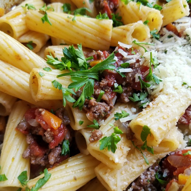 Michael Symon's Rigatoni with Meat Sauce – Rumbly in my Tumbly