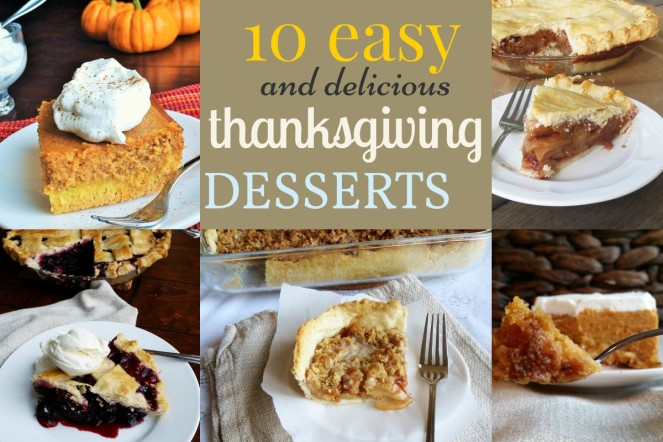10 Simple and delicious Thanksgiving Desserts