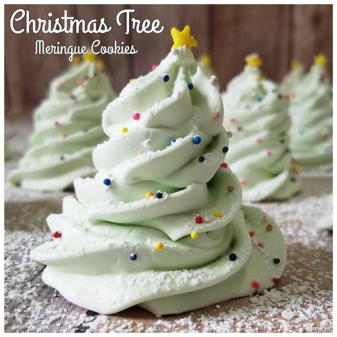 Christmas Tree Meringue Cookies by Rumbly in my Tumbly
