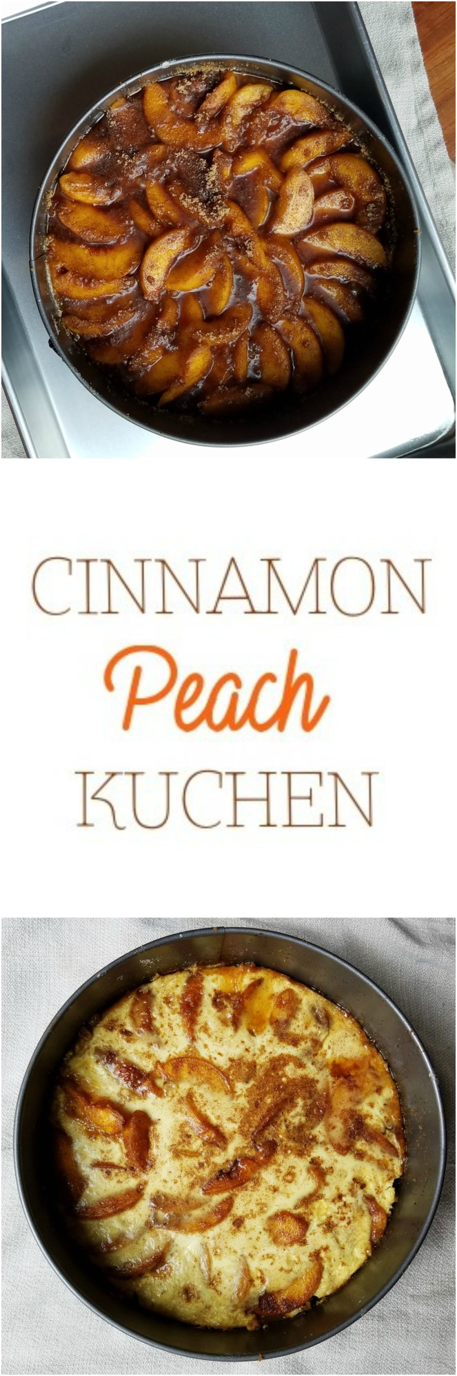 Cinnamon Peach Kuchen by Rumbly in my Tumbly