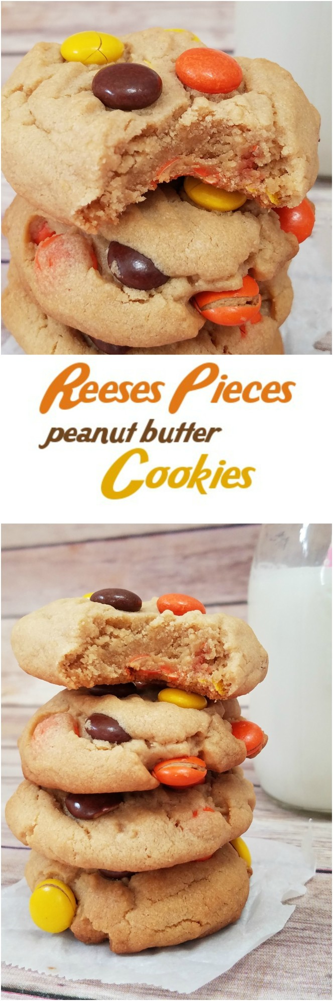 Reeses Pieces Peanut Butter Cookies by Rumbly in my Tumbly