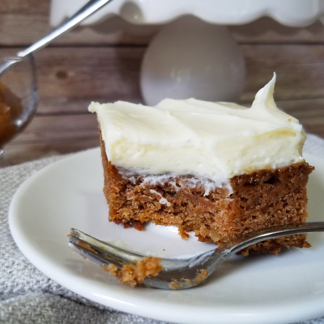 Applesauce Bars with Cream Cheese Frosting