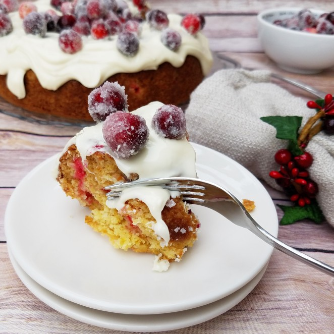 Cranberry White Chocolate Christmas Cake - Rumbly in my Tumbly