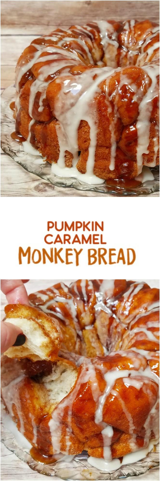 Pumpkin Caramel Monkey Bread by Rumbly in my Tumbly
