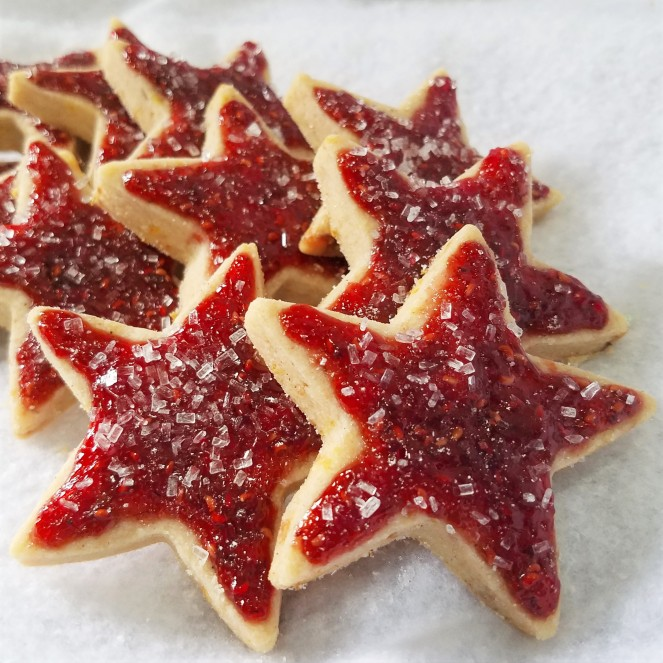 Sugar Plum Shortbread Cookies by Rumbly in my Tumbly