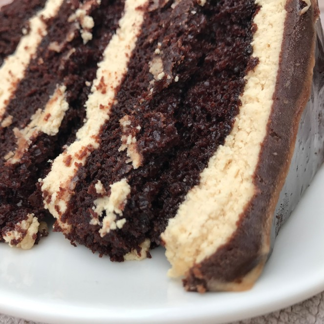 Chocolate Salted Peanut Butter Cake by Rumbly in my Tumbly