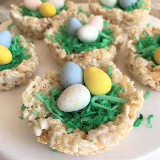 Rice Krispie Egg Nests