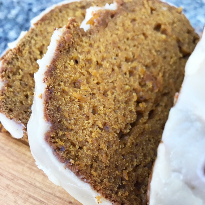 Best Ever Pumpkin Bread {with brown butter icing} by Rumbly in my Tumbly