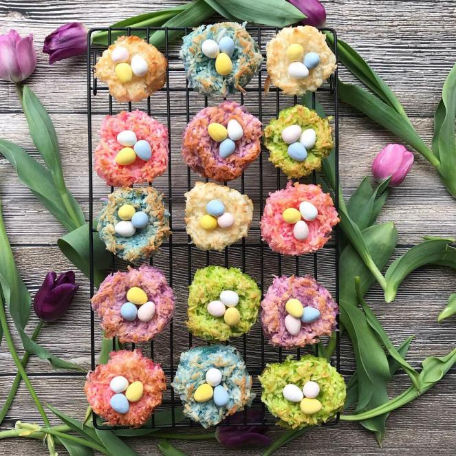 Coconut Macaroon Easter Egg Nests