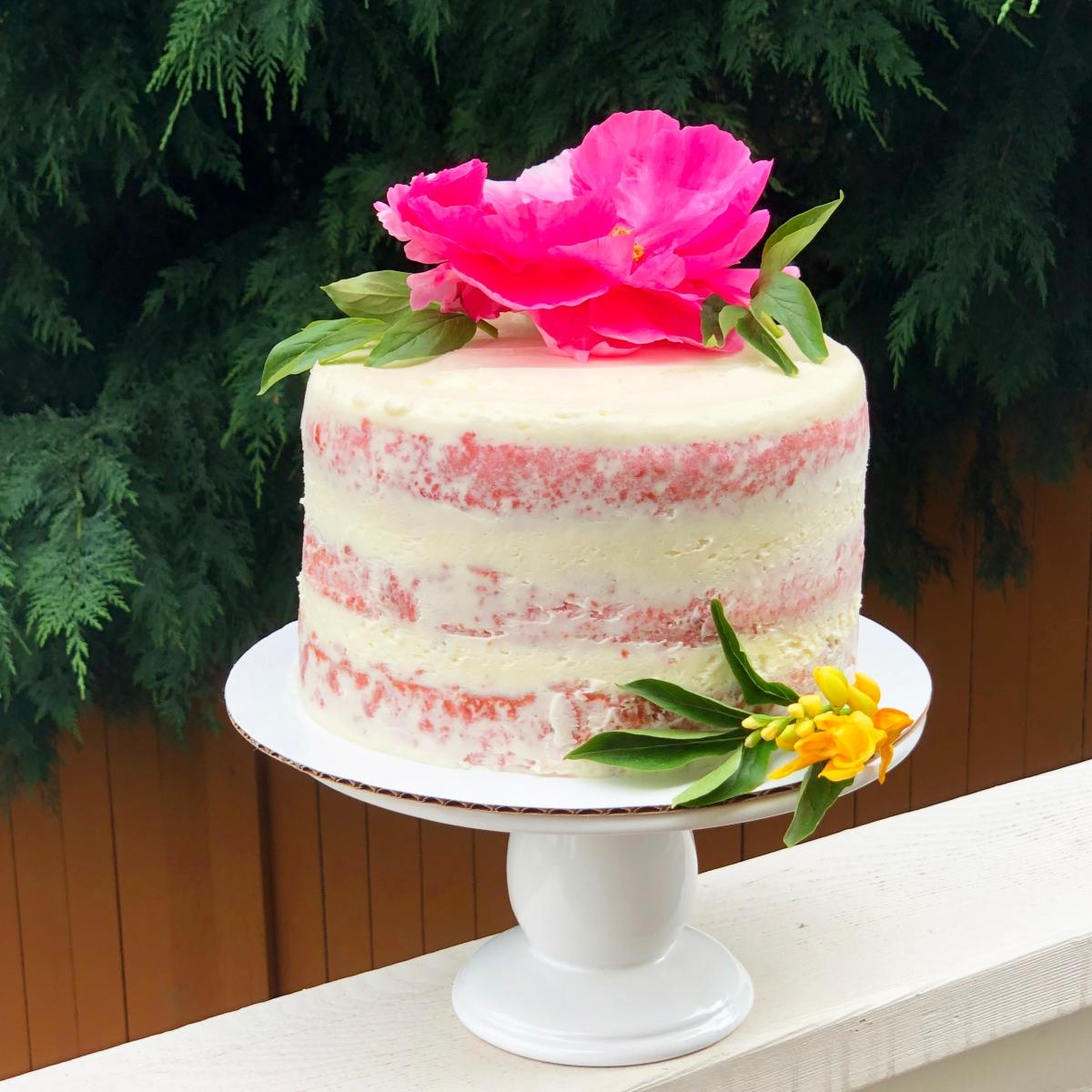 Fresh Strawberry Cake {No cake mix or Jell-o}