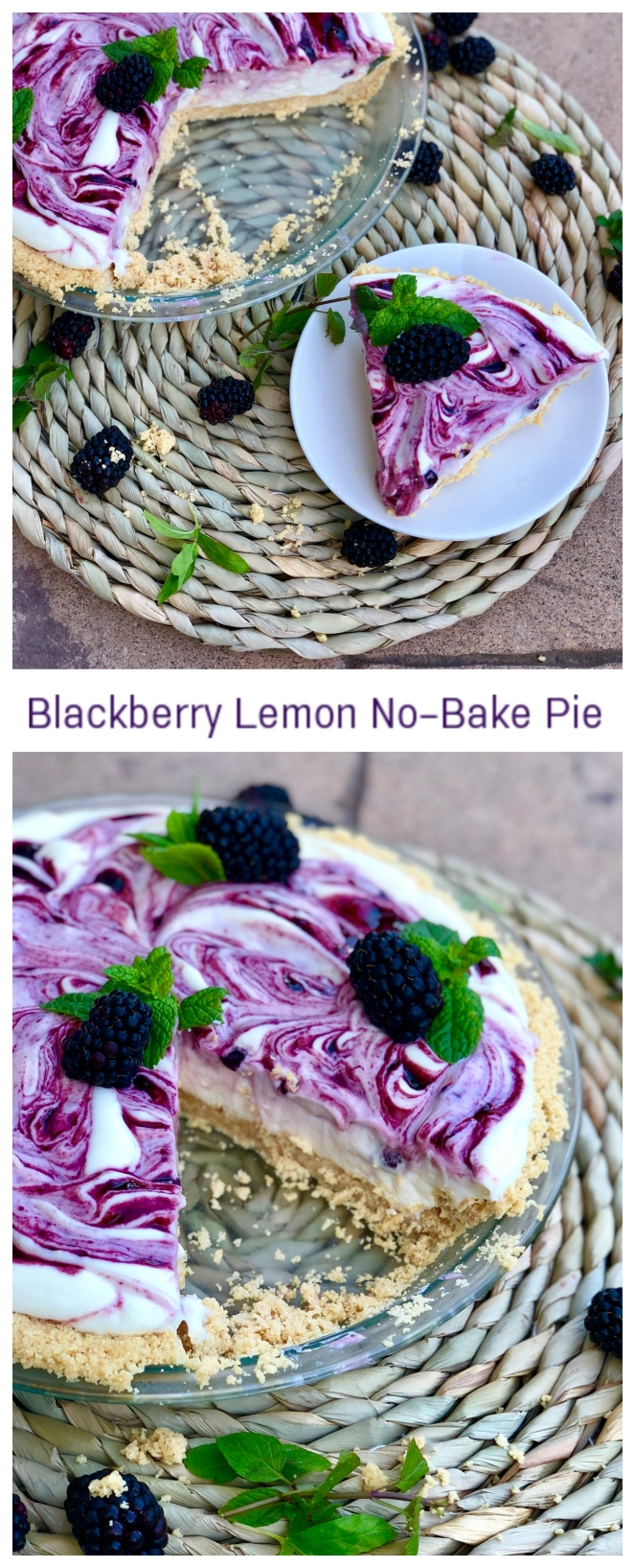Blackberry Lemon No-Bake Pie